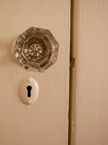 I love the older details: beautiful doorknobs and keyholes...